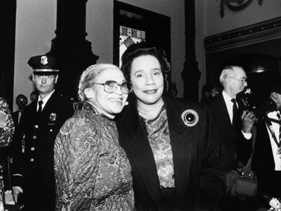 Rosa Parks and Coretta Scott King, at the Rosa Parks Sculpture Unveiling,1991
