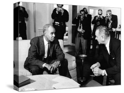 Roy Wilkins, Lyndon D. Johnson - 1963