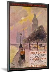 By Rail and Sea from Paris to Brighton or London Featuring the Embankment and Big Ben 6 of 8 by Maurice Toussaint