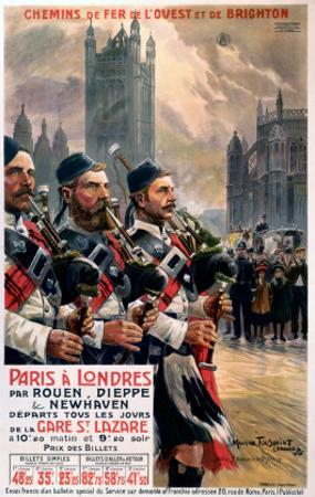 Scots pipers, LBSCR, c.1907