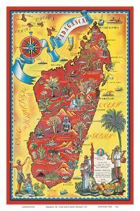 Madagascar - Map - Africa Island by Maurice Tranchant