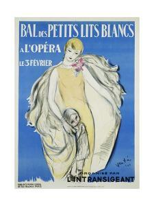Bal Des Petits Lits Blancs Dance Ball Poster by Maurice Vertes