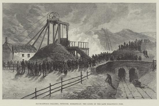 Mauricewood Colliery, Penicuik, Midlothian, the Scene of the Late Disastrous Fire-Thomas Harrington Wilson-Giclee Print
