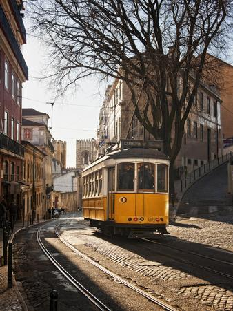 A Tramway in Alfama District, Lisbon