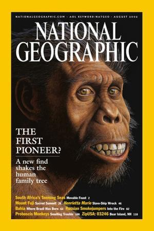Cover of the August, 2002 National Geographic Magazine by Mauricio Anton