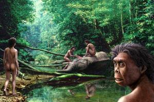 Homo Floresiensis by Mauricio Anton