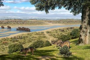 Neanderthal Landscape, Artwork by Mauricio Anton
