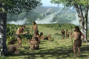 Neanderthals In Summer, Artwork by Mauricio Anton