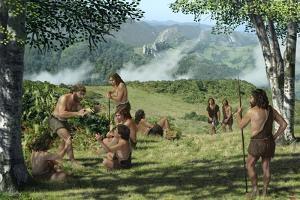 Neanderthals In Summer, Artwork by Mauricio Anton