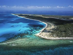 Aerial View of the Coral Barrier Reef Just Off Grand Turk Island by Mauricio Handler