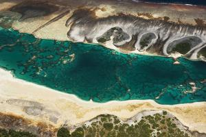 Aerial View of the Fringing Reef and the Inside Lagoon of Millennium Atoll by Mauricio Handler