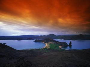 Dramatic Cloud Cover over Bartolome Island, Galapagos Archipelago by Mauricio Handler