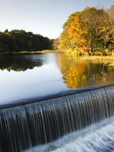 Fall Colors and a Waterfall on Eagleville Lake by Mauricio Handler