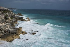 Surf Strikes the Cliffs on the Southern Point of Isla Mujeres Island, Mexico by Mauricio Handler