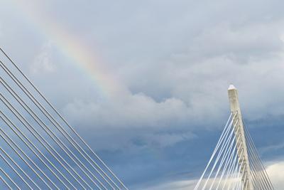 The Penobscot Narrows Bridge in Stockton Springs, Maine by Mauricio Handler