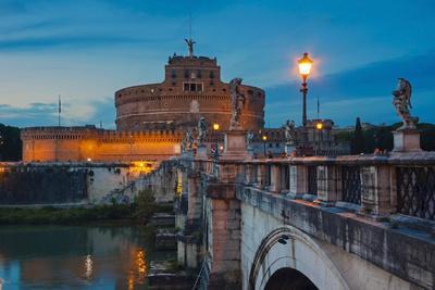 Mausoleum of Hadrian (Castel Sant'Angelo), Ponte Sant'Angelo, Tiber River, Rome, Lazio, Italy-Nico Tondini-Photographic Print