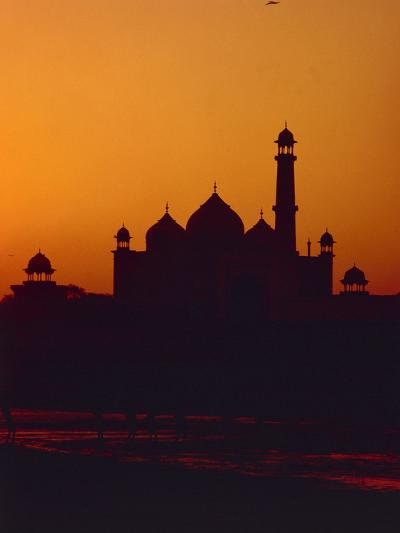 Mausoleum of Taj Mahal at Sunset--Photographic Print