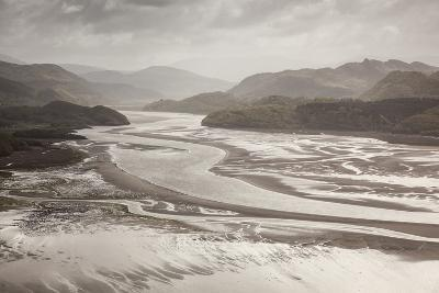 Mawddach Estuary at Low Tide, Barmouth, Snowdonia National Park, Gwynedd, Wales, May 2012-Peter Cairns-Photographic Print