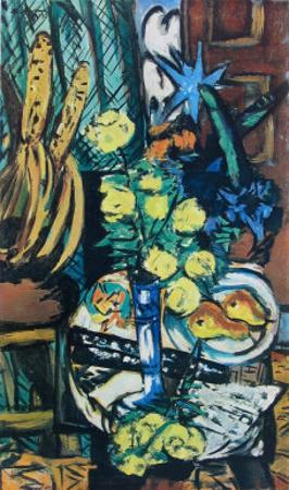 Yellow Roses by Max Beckmann