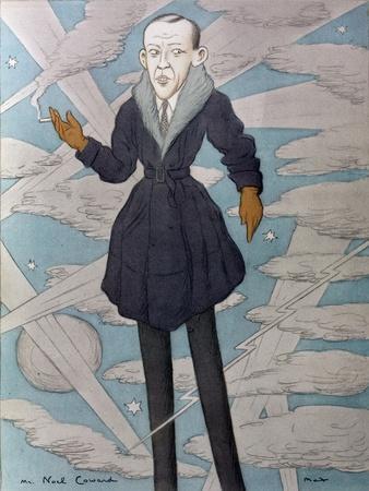 Caricature of Noel Coward