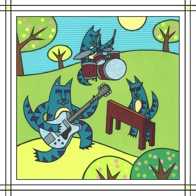 Max Cat Band 1-Denny Driver-Giclee Print