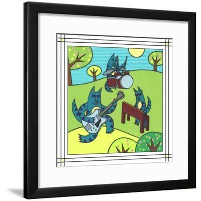 Max Cat Band 1-Denny Driver-Framed Giclee Print