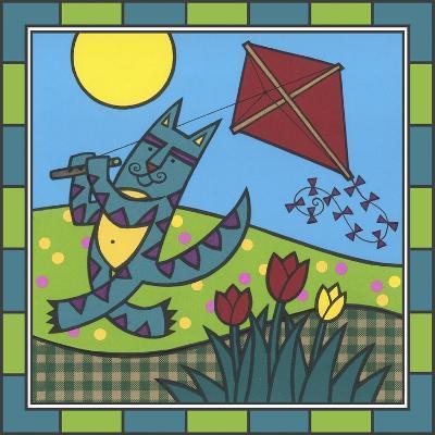 Max Cat Kite 1-Denny Driver-Giclee Print