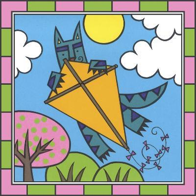 Max Cat Kite 2-Denny Driver-Giclee Print