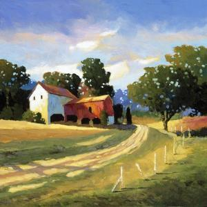 Barns on Greenbrier V by Max Hayslette