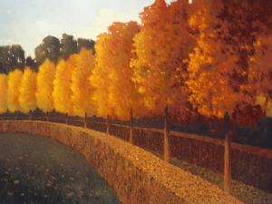 Linden Trees in Autumn by Max Hayslette
