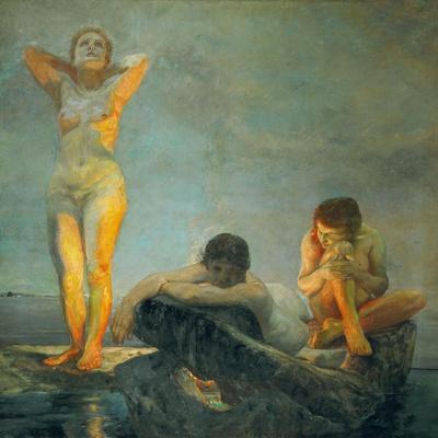 Die blaue Stunde-The Blue Hour Oil on canvas, 191,5 x 176 cm.