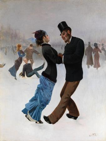 Ice Skaters, C. 1920