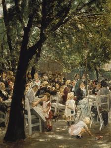 A Munich Beer Garden, 1883/84 by Max Liebermann