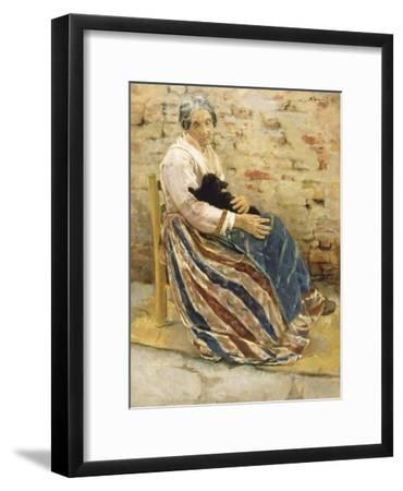 An Old Woman with Cat