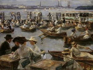 At the Alster in Hamburg, 1910 by Max Liebermann