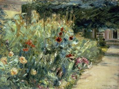 Flower Bed in the Artist's Garden on Lake Wannsee, 1923