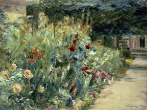 Flower Bed in the Artist's Garden on Lake Wannsee, 1923 by Max Liebermann
