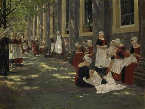 Free Period in the Amsterdam Orphanage, 1881/1882 by Max Liebermann