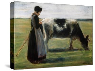 Girl with Cow, 19th Century