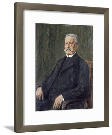 Portrait of Paul Von Hindenburg