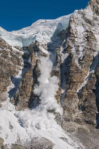 Avalanche Off of the Ling Trin Face by Max Lowe