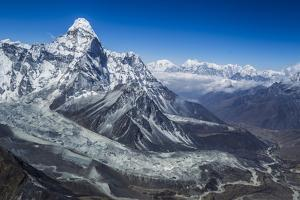Looking Out over Ama Dablam and Down the Khumbu Valley by Max Lowe