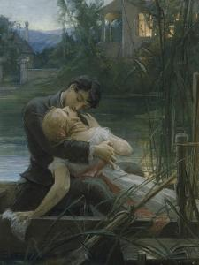 Lovers in a Boat by Max Pirner