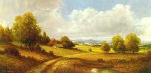 Voralpenlandschaft by Max Weber