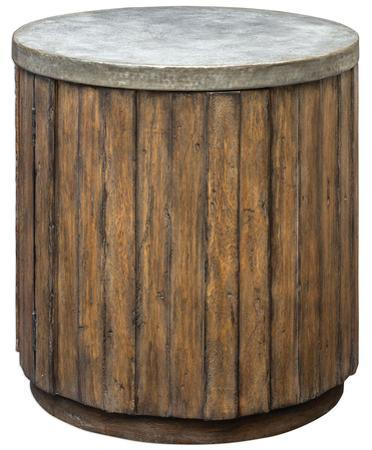 Maxfield Drum Accent Table