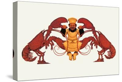 Chef and a Pair of Lobsters