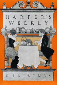 Harper's Weekly, Christmas by Maxfield Parrish