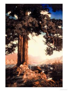 Hilltop by Maxfield Parrish