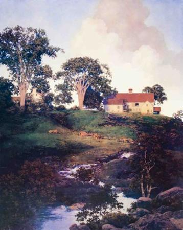 Hunt Farm (Daybreak) by Maxfield Parrish