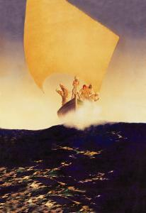 Sinbad and His Seven Brothers by Maxfield Parrish